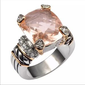 Jewelry - 🆕 Morganite Sterling Gold Noblesse Ring